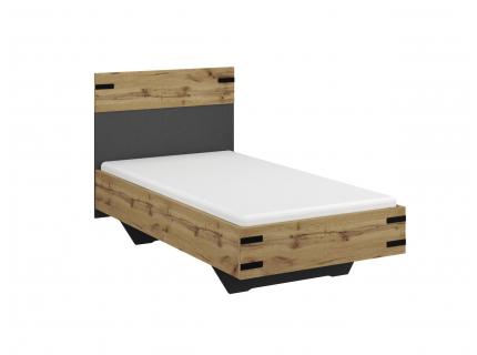 Bed BUTTE - Wotan Eik/Metallic