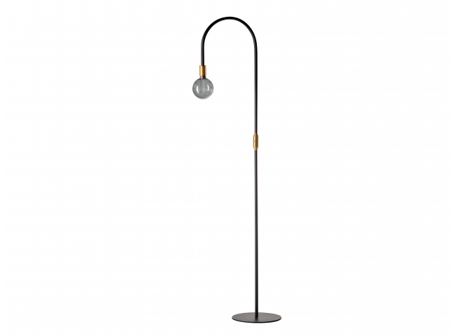 Vloerlamp PIKE - Zwart/goud