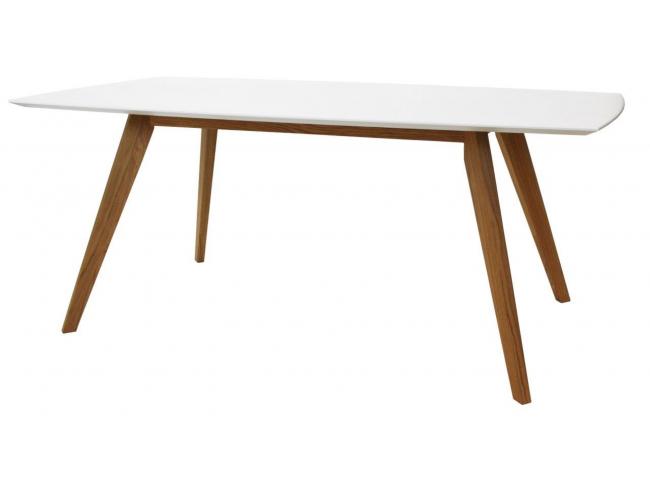 Eetkamertafel 'Bess' - kleur: Wit/Eik