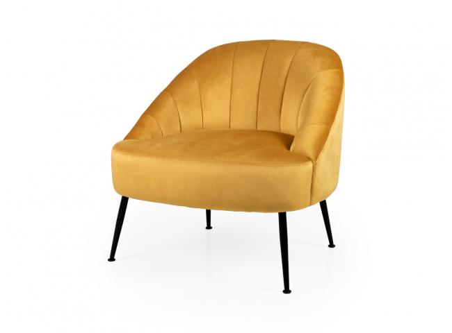 Lounge Chair PHOEBE - Mustard