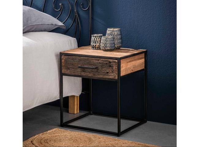 Nachtkastje FLOAT - Oud hout