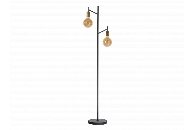 Vloerlamp TREE - Zwart/goud