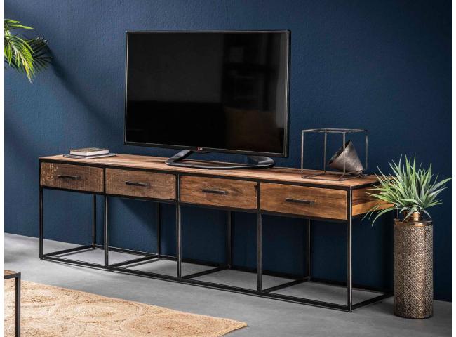 TV-meubel FLOAT - Oud Hout