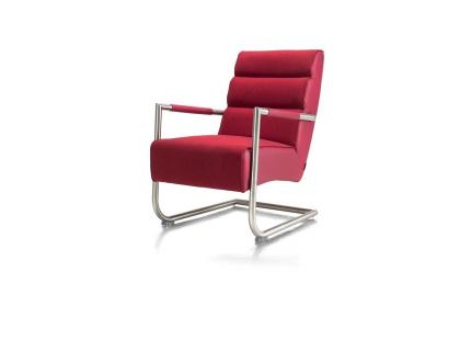 Toonzaalmodel: Luzern fauteuil in rvs