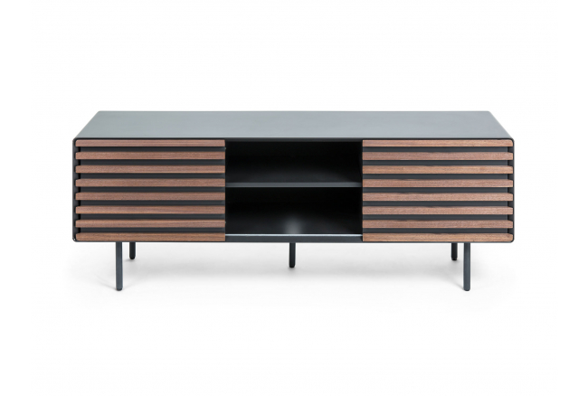 Tv-meubel MAHON - Grafiet/hout