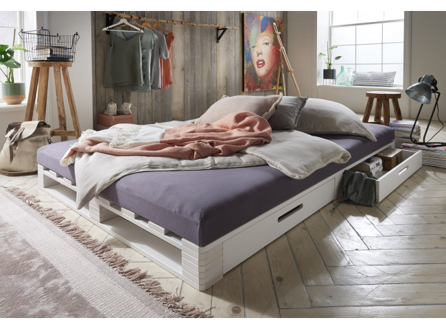 Bed PALLETBED - Wit