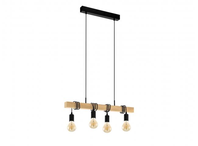 Hanglamp TOWNSHEND - Hout/meta