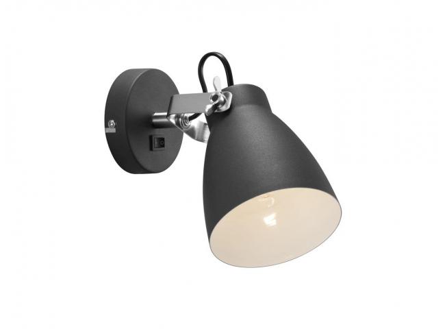 Spot wandlamp LARGO - Zwart