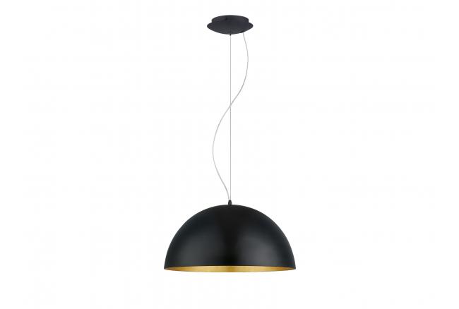 Hanglamp GAETANO 1 - Zwart/gou