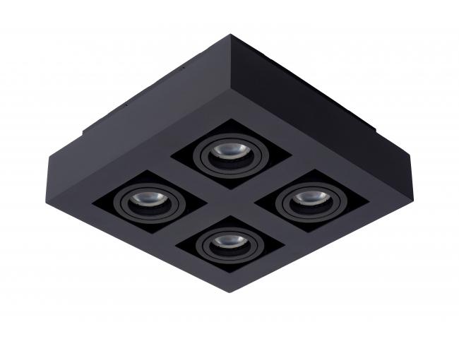 Spot XIRAX 4 spots - Wit/zwart