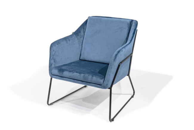 Fauteuil EVERT - Blauw