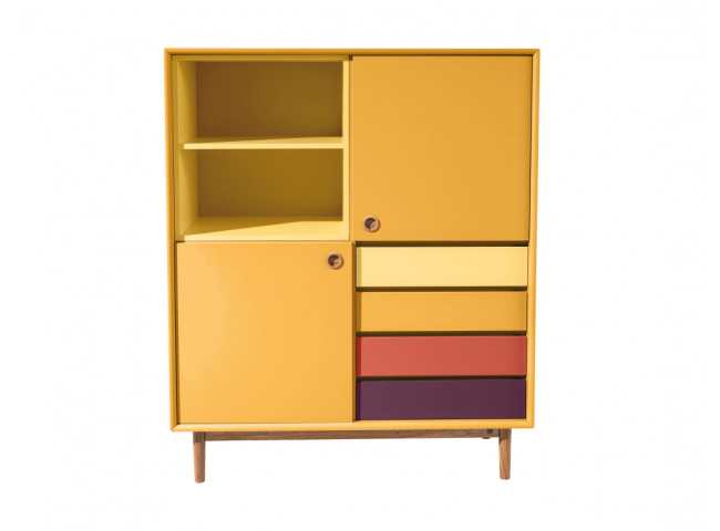 Highboard COLOR BOX - Mustard