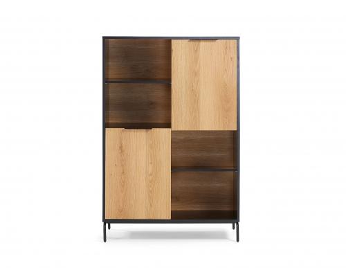 Boekenkast SAVOI - Zwart/hout