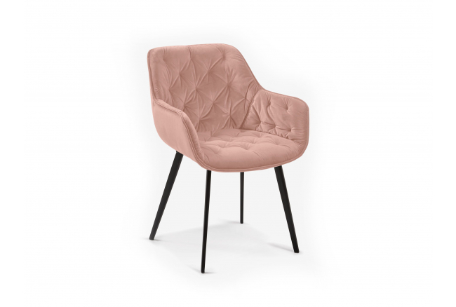 Fauteuil MULDER - Pink velvet