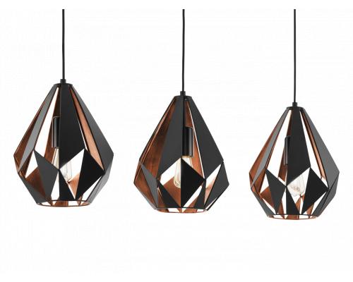 Hanglamp CARLTON 1 3xE27 - Zwa
