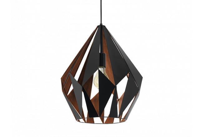 Hanglamp 'Carlton' - kleur: Zw