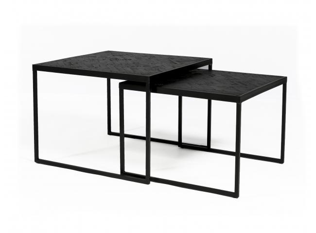 Set van 2 salontafels BLACK ST