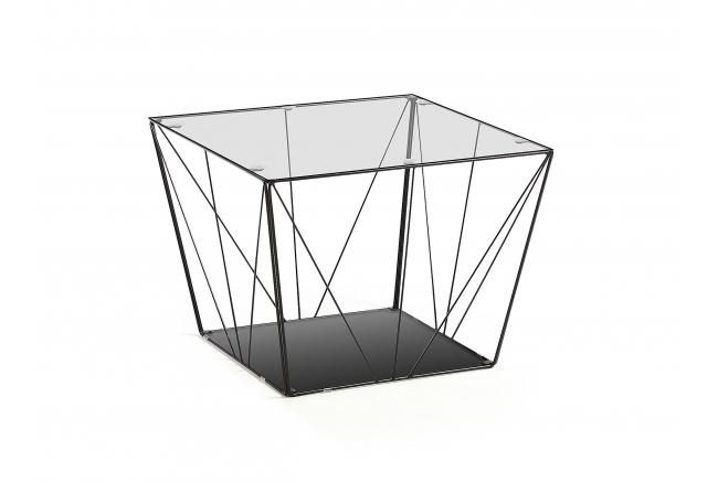 Salontafel TILO - Zwart/Glas