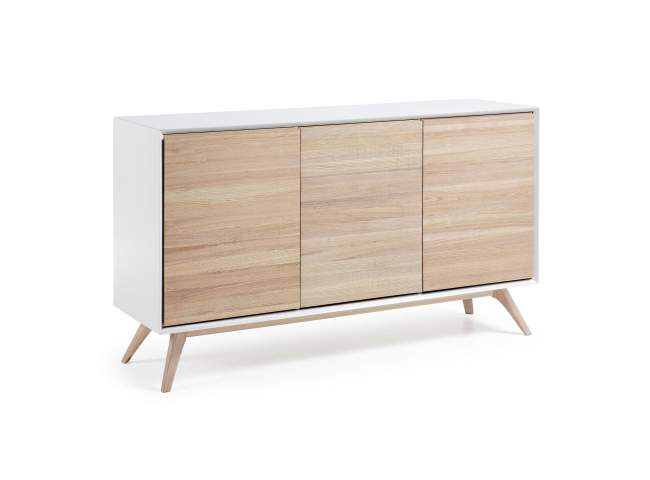 Dressoir EUNICE - Wit/Naturel