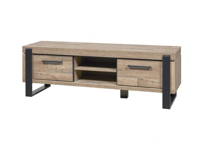 Tv-meubel UDINE - Natuur/Zwart