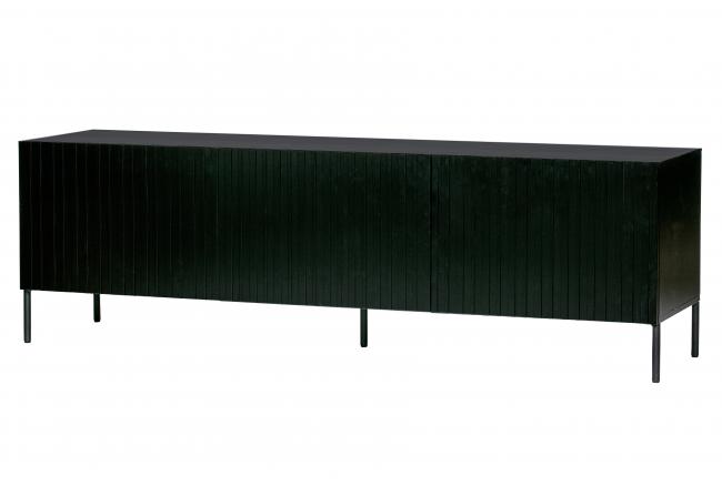 Tv-meubel GRAVURE - Zwart gren