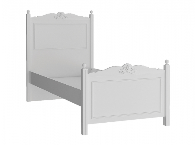 Bed LORA 90x200 cm - Wit