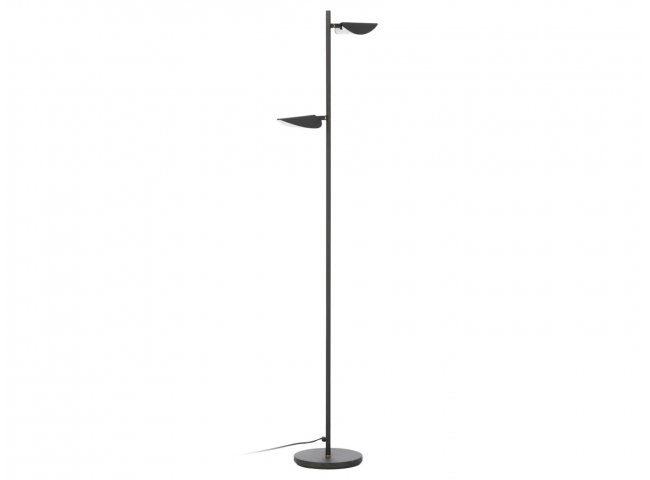 Vloerlamp VELEIRA - Zwart