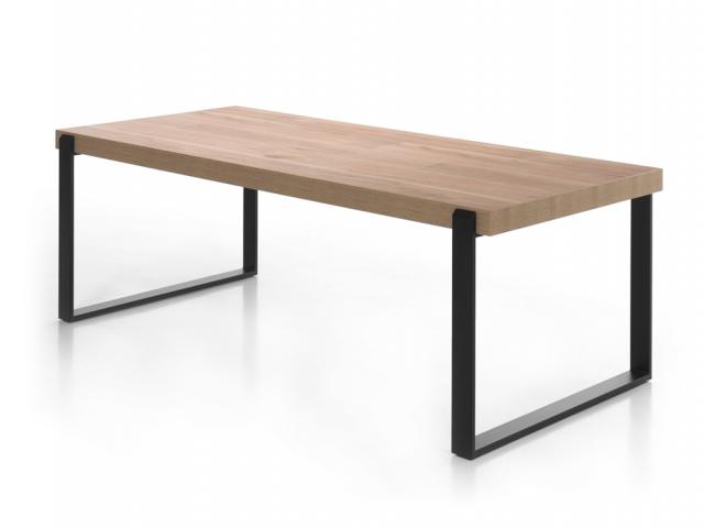 Eetkamertafel 'Pisa' - kleur: Oude eik +