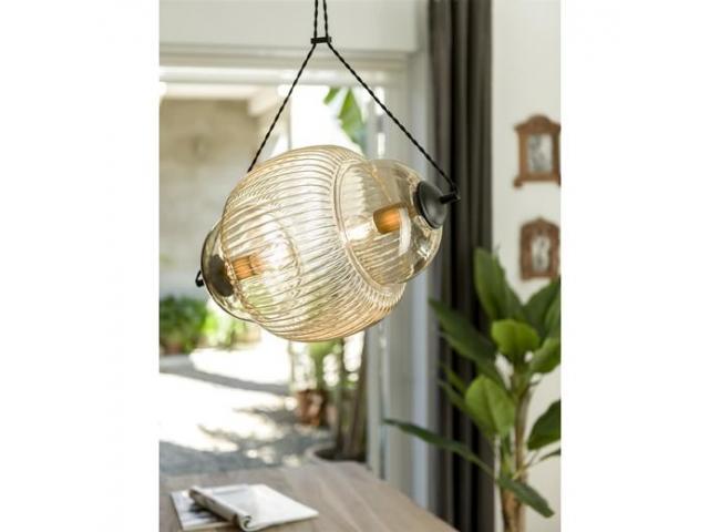 Hanglamp FABIO - Glas/metaal