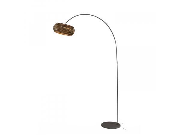 vloerlamp booglamp kleur bruin 718 731040