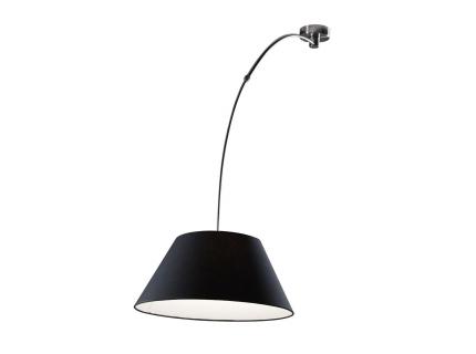 Plafondlamp  - kleur: Mat nikkel, stof zwart