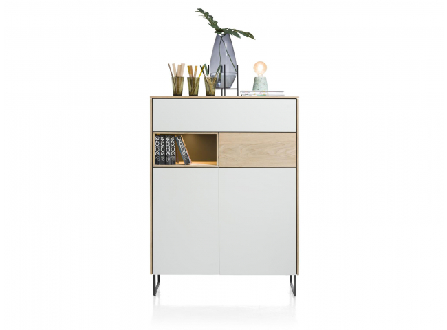 Highboard DARWIN - Oak/Beach