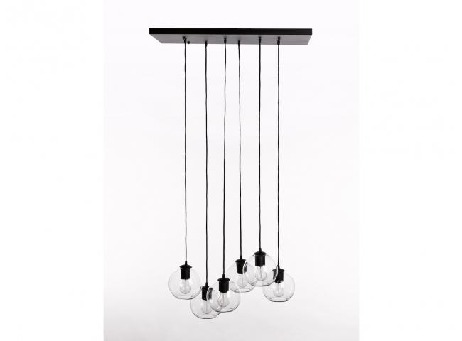 Plafondlamp SEATTLE met glazen