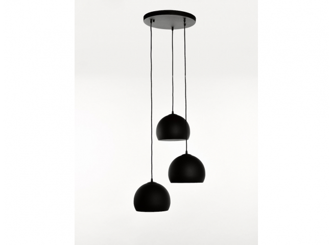 Hanglamp GUGGENHEIM 3x - Zwart