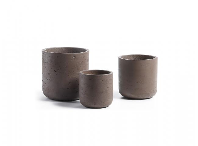 Set van 3 potten LOW - Bruin