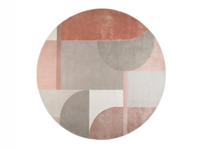 Tapijt HILTON - Roze/grijs