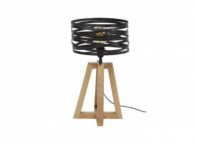 Tafellamp TWIST - Hout/metaal