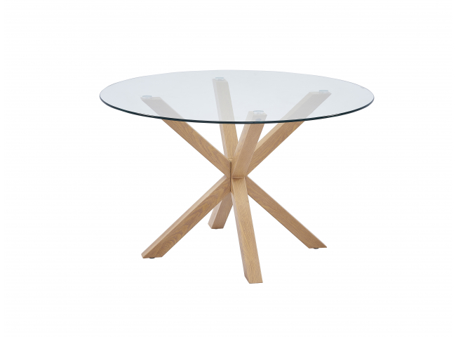 Tafel AXEL - Glas/hout