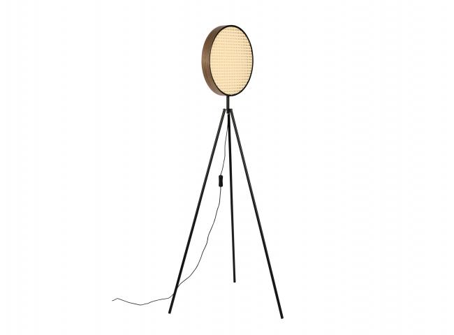 Vloerlamp SIEN - Rotan/Zwart