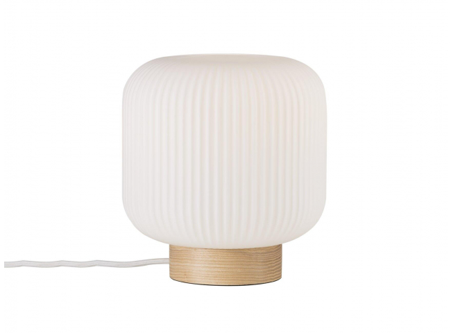 Tafellamp MILDORD - Opaal wit/