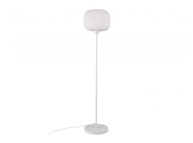 Vloerlamp MILFORD - Opaal wit/