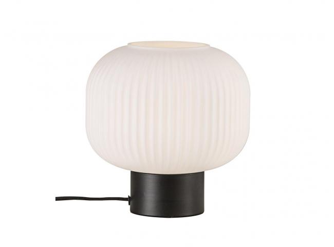 Tafellamp MILFORD - Opaal wit/
