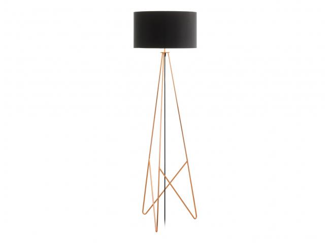 Vloerlamp CAMPORALE - Koper/zw