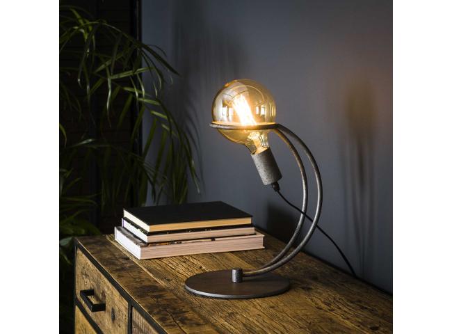Tafellamp CURVE RING - Oud zil