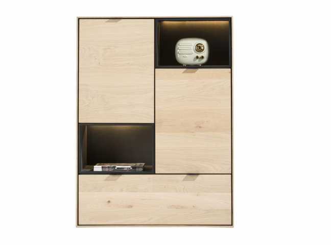 Highboard 90 cm ELEMENTS - Nat