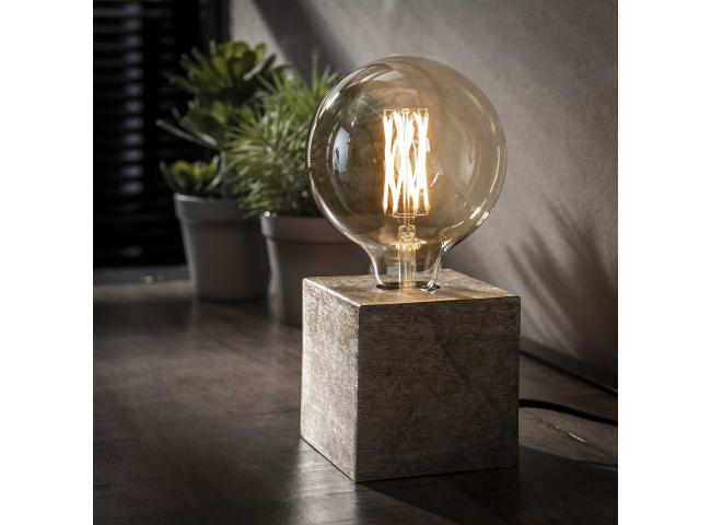 Tafellamp BLOCK - Zwart nikkel