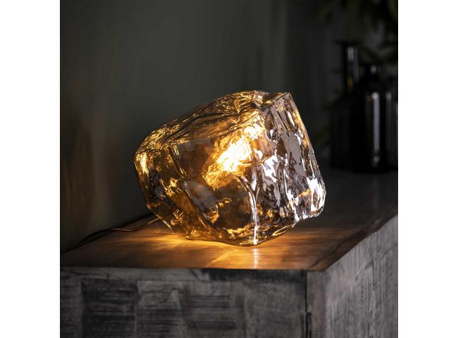Tafellamp ROCK - Chromed glas