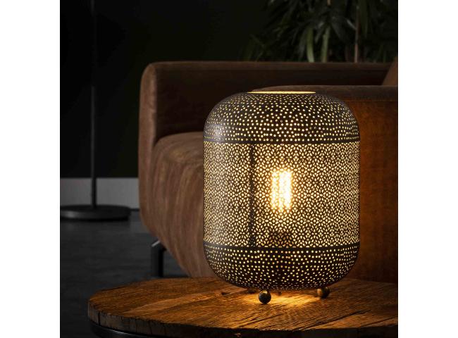 Tafellamp ETCH - Oud zilver