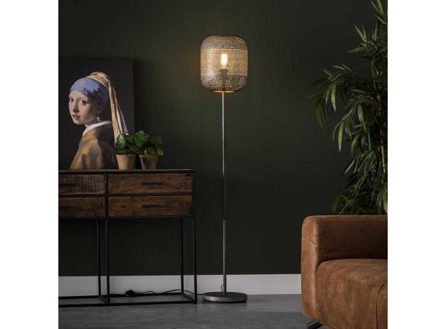 Vloerlamp ETCH - Oud Zilver