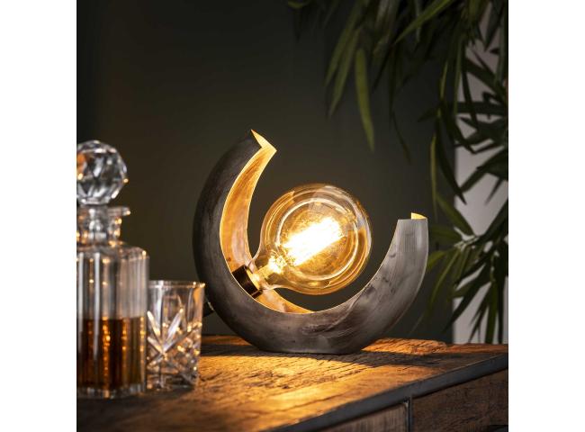 Tafellamp HALF MOON - Oud zilv